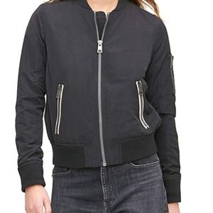 Levi's Women's Poly Bomber Jacket with Contrast Zi